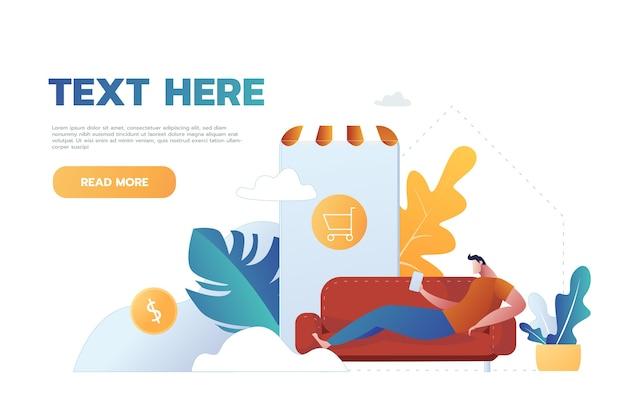 Карантин эпидемии коронавируса. интернет-магазин для молодых людей. потребительство в мобильном приложении для смартфонов. купить дома. выжить covid 19