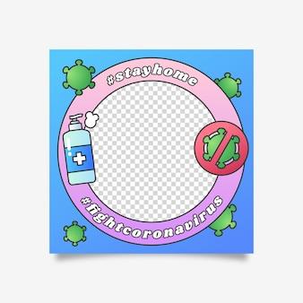 Cornice facebook coronavirus per l'immagine del profilo