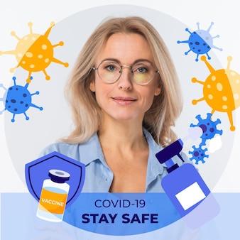 Coronavirus facebook frame for profile picture