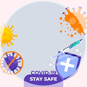 Coronavirus facebook frame for profile picture