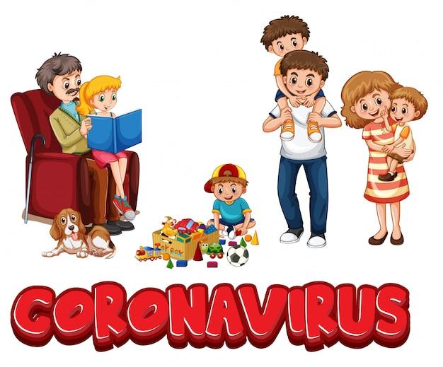 Coronavirus e membro della famiglia