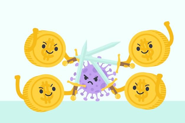 Progettazione di recupero finanziario di coronavirus