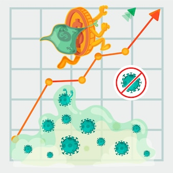 Coronavirus financial recovery illustration