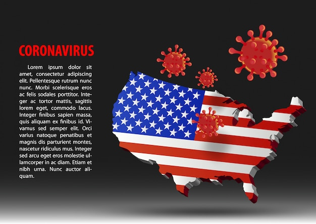 Coronavirus fly over map of usa