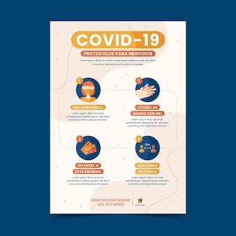 Modello di volantino per coronavirus