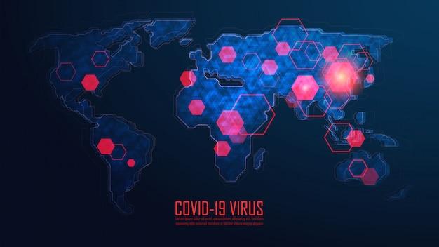 Coronavirus global pandemic outbreak