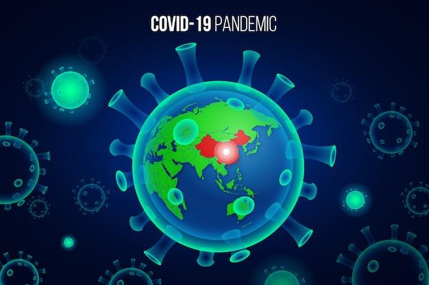 Coronavirus globe concept