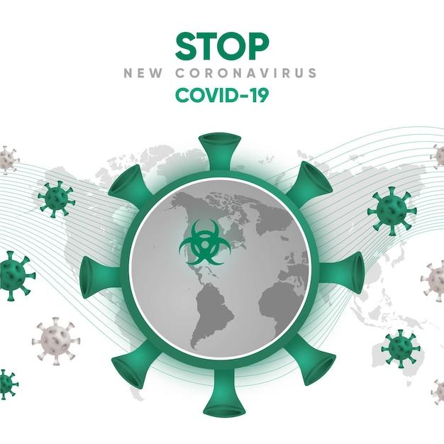 Stile globo coronavirus