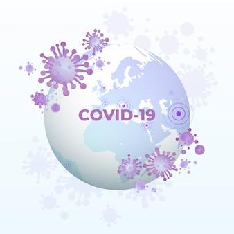 Coronavirus globe transmission