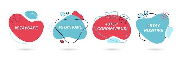 코로나바이러스 확산 방지를 위한 코로나바이러스 해시태그 설정