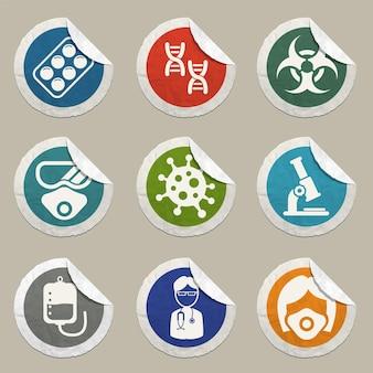 인포그래픽 또는 웹사이트에 대한 코로나바이러스 아이콘 설정 새로운 코로나바이러스 2019ncov