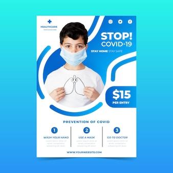 Coronavirus informative flyer template