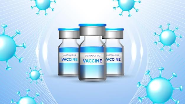 Coronavirus vaccinazione informativa concetto di fondo