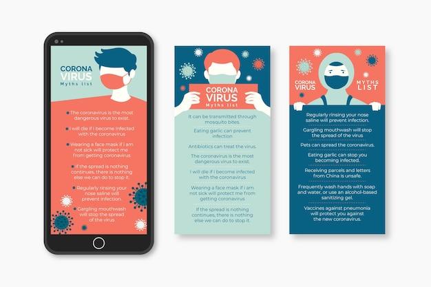 Coronavirus instagram myths list