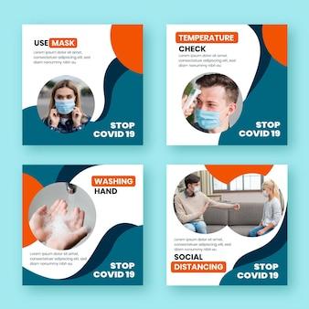 Коллекция сообщений instagram о коронавирусе