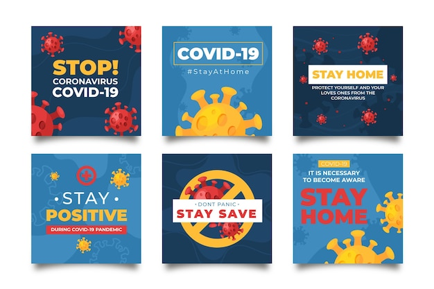 Coronavirus instagram posts template