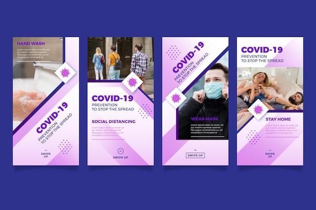 Storie di instagram di coronavirus