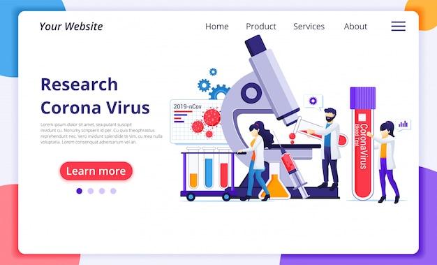 コロナウイルスランディングページ
