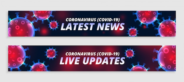 Coronavirus in diretta aggiornamenti e set di banner larghi delle ultime notizie