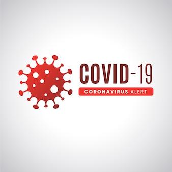 コロナウイルスのロゴのコンセプト