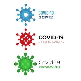 Concetto di logo di coronavirus