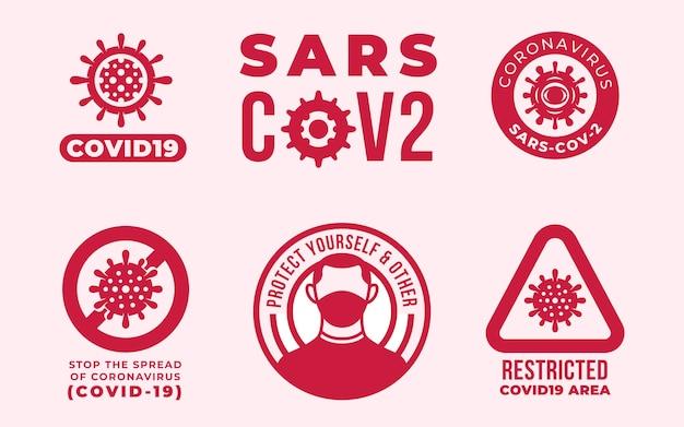 Концепция логотипа коронавирус