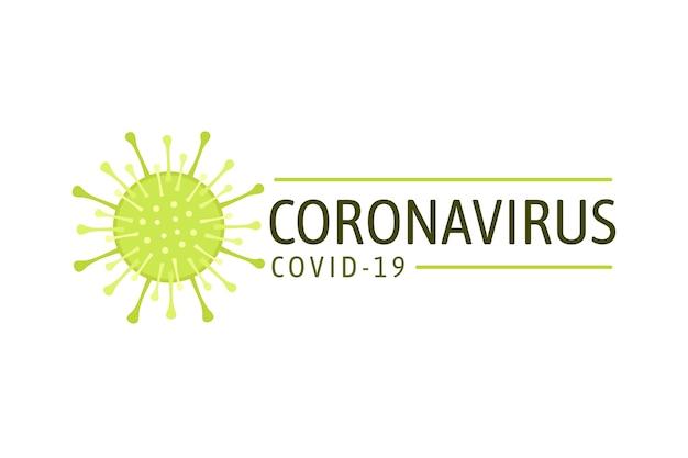Коронавирус дизайн логотипа для шаблона