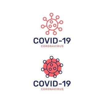 Коронавирусный стиль логотипа