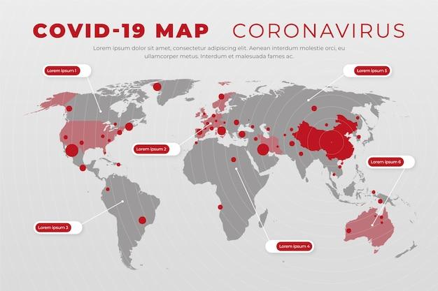Casi della mappa del coronavirus