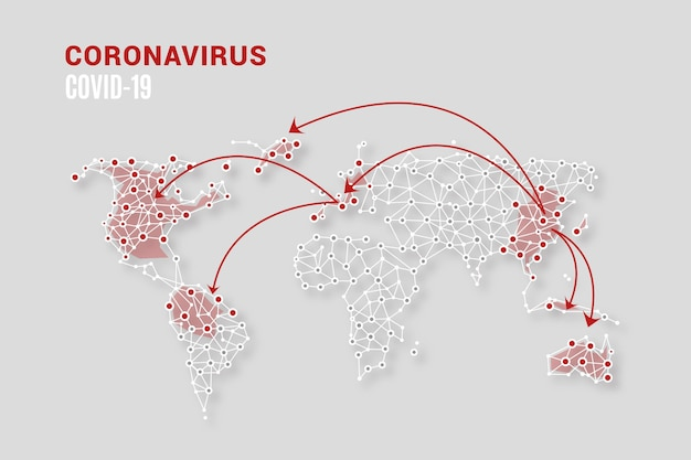Coronavirus map concept