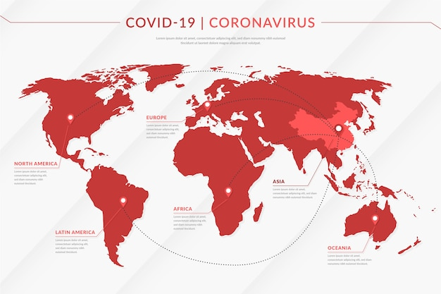 Coronavirus map spreading