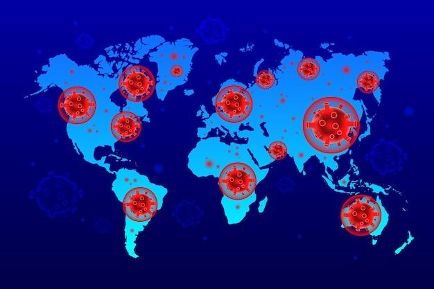 Stile mappa coronavirus