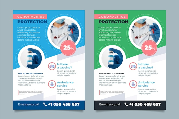 Coronavirus medical products flyer