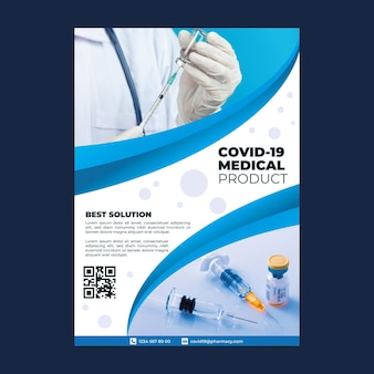 Плакат о медицинских продуктах с коронавирусом с фото
