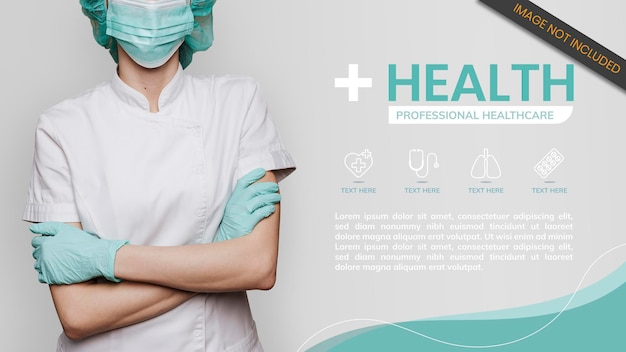 Шаблон баннера медицинского персонала по коронавирусу