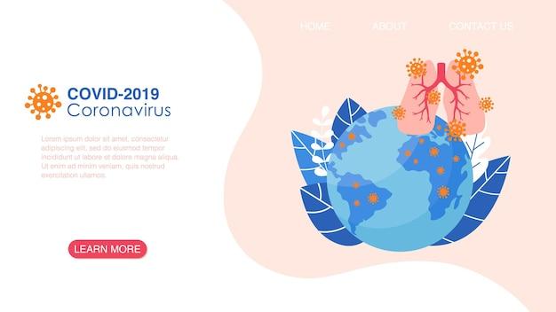코로나바이러스 의료 웹사이트 방문 페이지