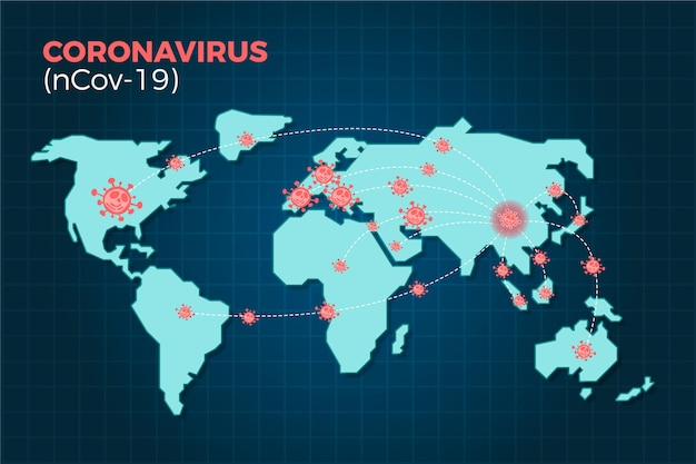 전 세계에 퍼지는 코로나 바이러스 ncov-19