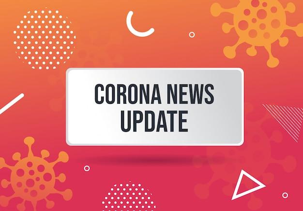 Coronavirus news update abstract background design