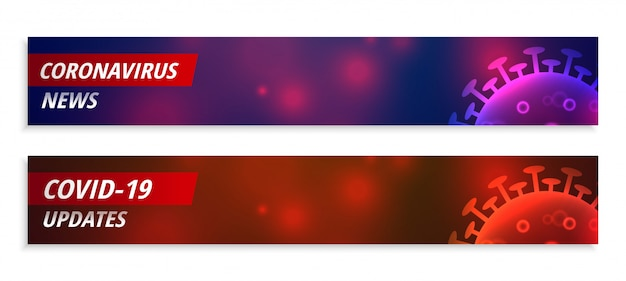 Coronavirus news and updates wide banner in two colors