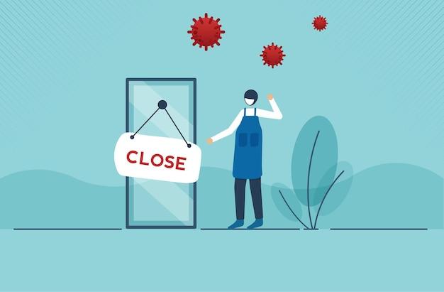 Влияние коронавируса или covid19 на социальное дистанцирование предпринимателя или малого бизнеса будет закрыто