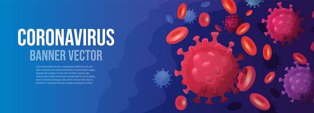 コロナウイルス発生バナー