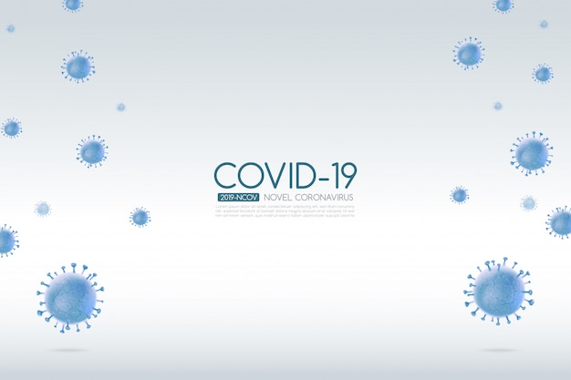 Coronavirus outbreak covid-19 with falling virus cell on a light background 002
