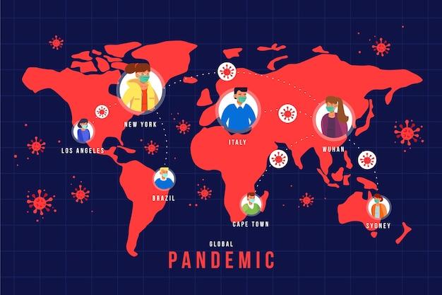 Concetto di pandemia di coronavirus