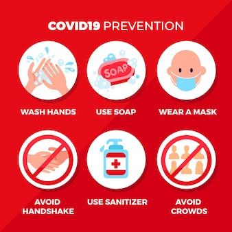 Concetto di infografica prevenzione coronavirus