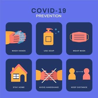 Coronavirus prevention infographic