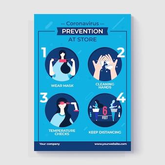 お店のコロナウイルス予防ポスター