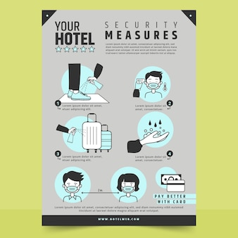 Coronavirus prevention poster for hotels