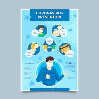 Coronavirus prevention poster template