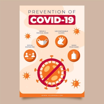 Coronavirus prevention poster theme