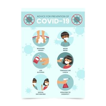 Poster di prevenzione del coronavirus